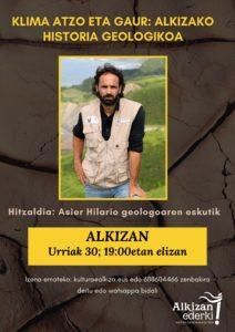 KLIMA ATZO ETA GAUR: ALKIZAKO HISTORIA GEOLOGIKOA